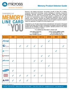 Memory Line Card