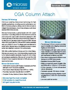 Column Grid Array (CGA)