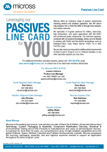 Passives Line Card