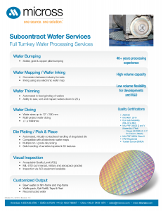 Wafer Processing Services