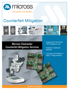 Clearwater Counterfeit Mitigation Services