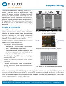 3D Integration Technology