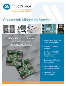 Clearwater Counterfeit Mitigation & Test Services