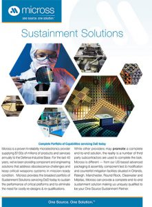 Sustainment Solutions Brochure